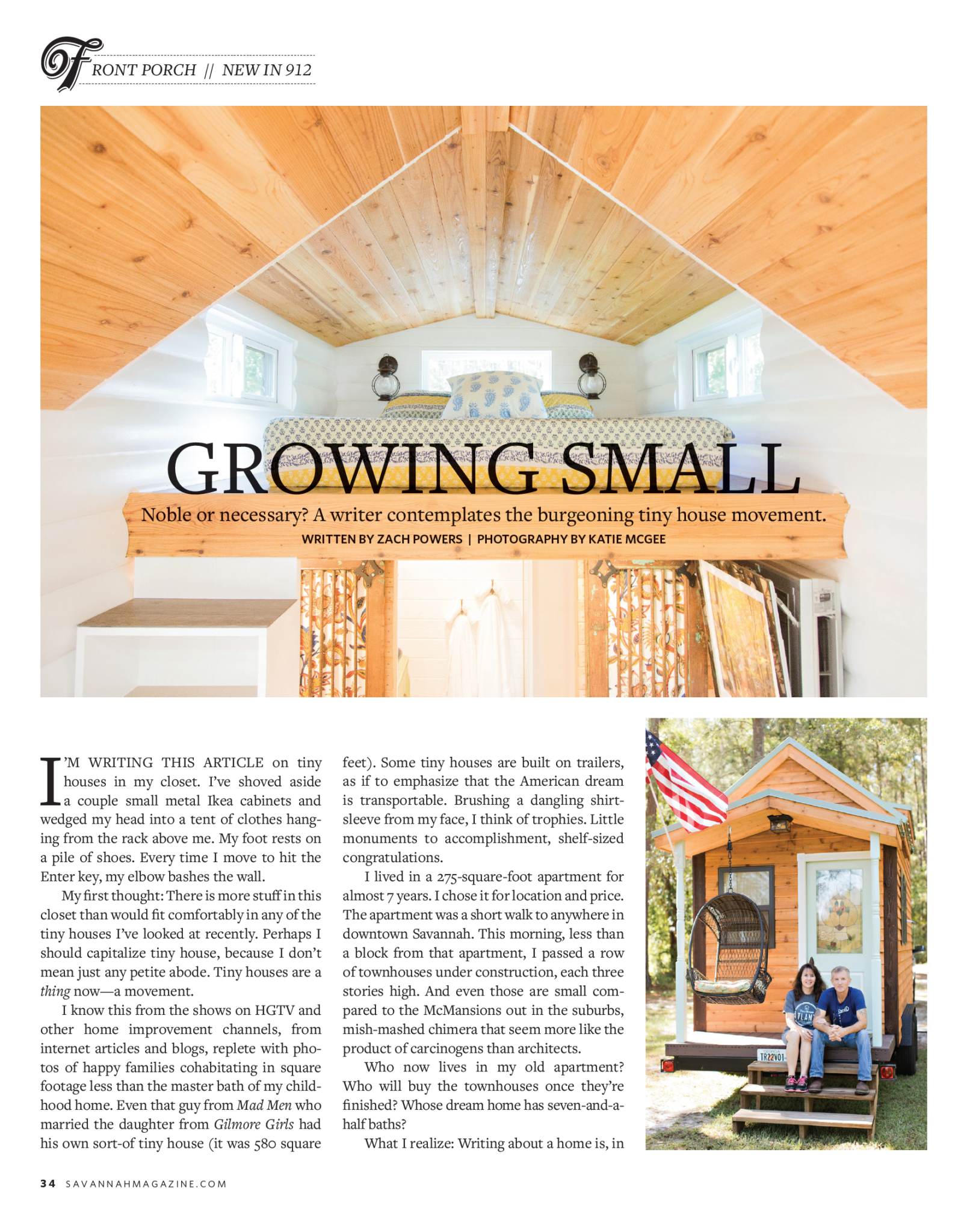checking in with first tiny house customer