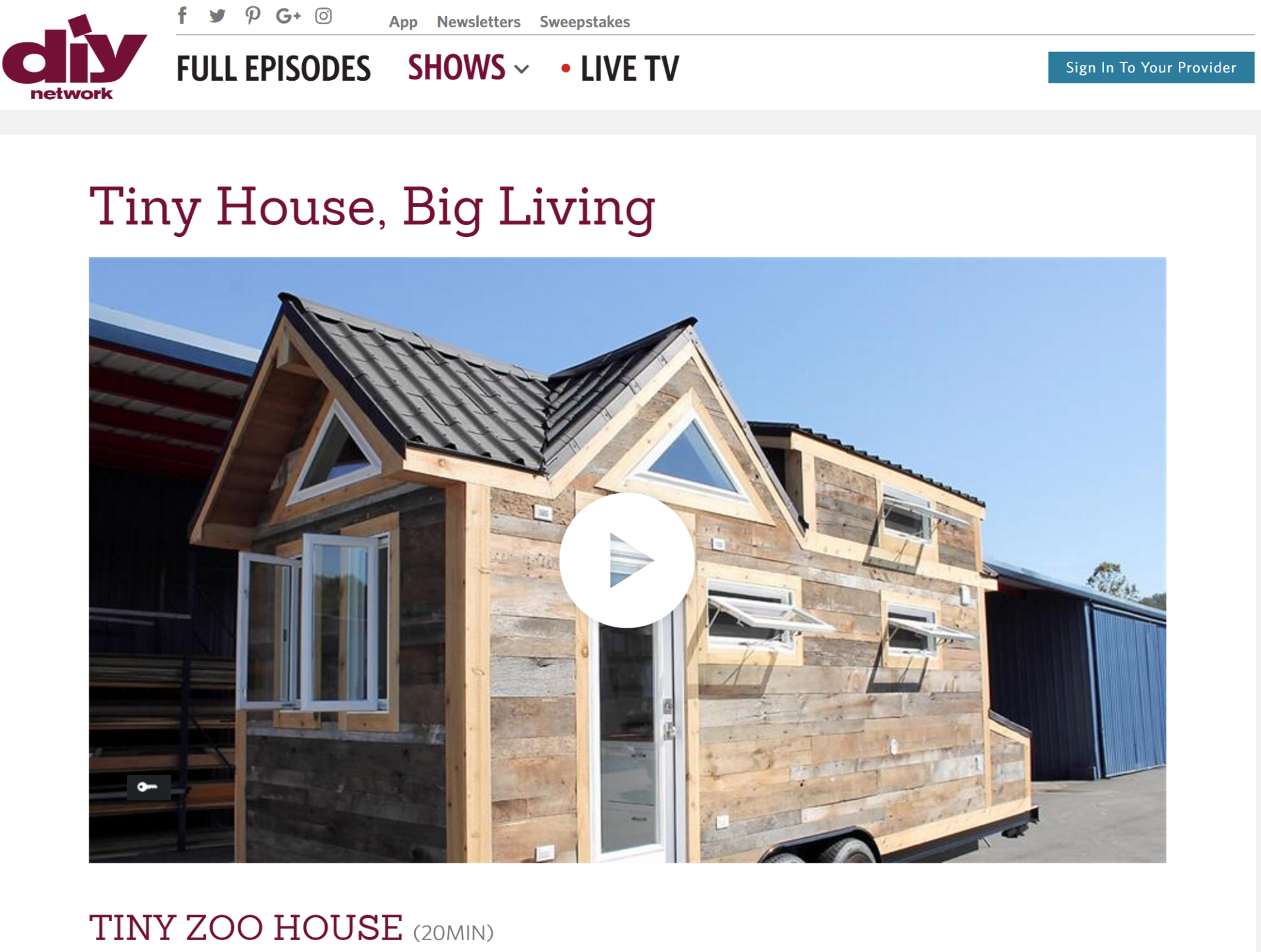 See The Evergreen Model On DIY Networks Tiny House Big Living